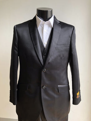 Slim Fit Prom Suits Skinny - Shark Black
