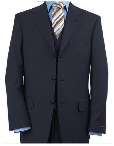 WhiPlus Size Business Suits Navy