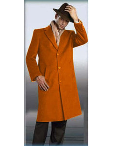 "Mens Wool Trench coat - ""Rust"" Color Mens Overcoat"