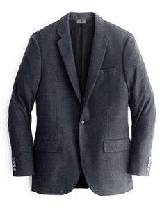 Mens Charcoal One Chest Pocket Cashmere & Wool Blazer
