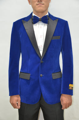 Velvet-Tux101 Royal/Black