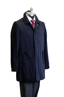 Men's Navy Raincoat 3/4 Length