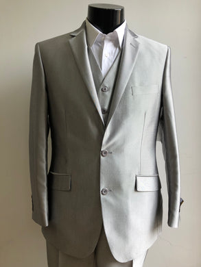 Slim Fit Prom Suits - Skinny - Shark Silver