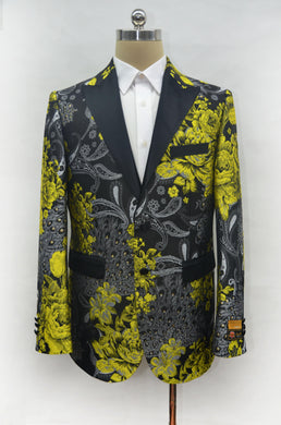 Fashion-8#  Gold - Mens Wholesale Blazers - AlbertoNardoniStore