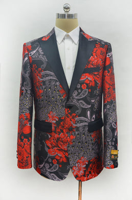 Fashion-9#  Red - Mens Wholesale Blazers - AlbertoNardoniStore