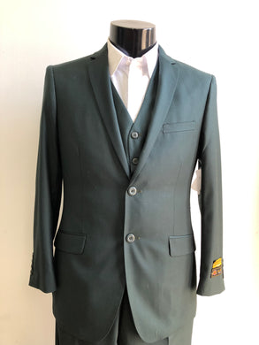 Slim Fit Prom Suits Skinny - Hunter Green