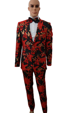 Red and Golden Prom Suit