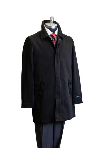 Affazy Marco Grossi Men's Black Raincoat 3/4 Length