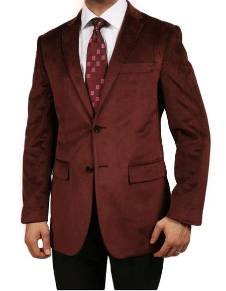 Mens Dark Red Suit