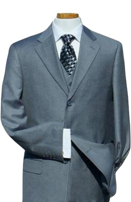 Plus Size Mens Suits - Plus Size Business Suits Grey