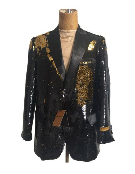 Sequins-700 Gold Black