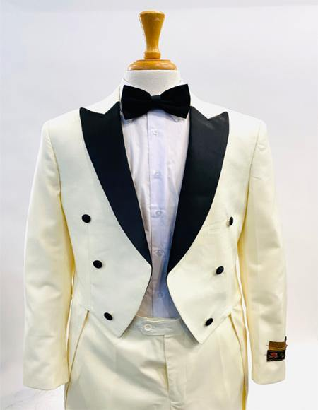 1920s Mens Fashion Tailcoat Tuxedo Morning Suit Tux Color Wool Fabric