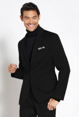 Mens Black Turtleneck Suit - Including Sweater