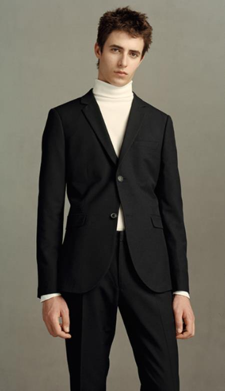 Suit With Turtleneck - Turtleneck With Suit