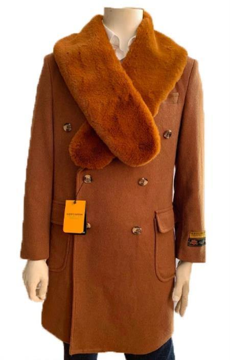 Mens Big and Tall Peacoat - Wool And Cashmere