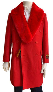 Big and Tall Peacoat - Mens Big and Tall Peacoat - Red