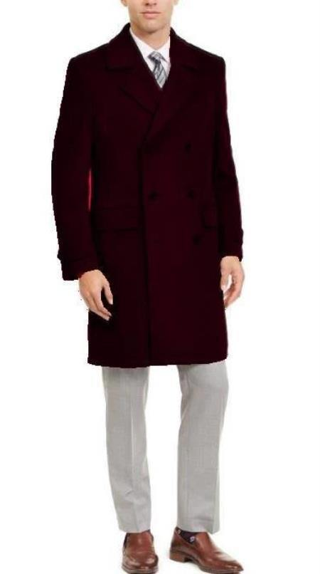 Big and Tall Peacoat - Mens Big and Tall Peacoat - Brown