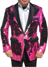 Load image into Gallery viewer, Sequins-700 Fuchsia Black
