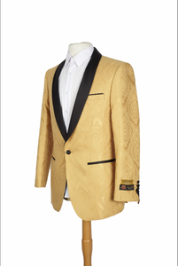 Mens Gold Blazer - Mens Gold Dinner Jacket
