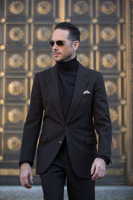 Black Suit With Turtleneck (Package Deal )
