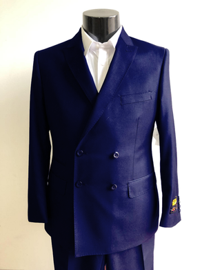 DB-Slim Indigo Blue - Wholesale Mens Suits - Wholesale Suits