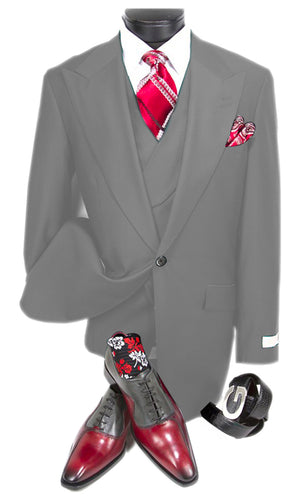 Mens Suits Detroit Michigan - Gadson-54 Light Grey - Wholesale Mens Suits - Wholesale Suits
