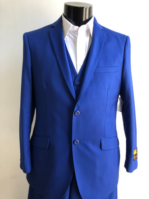 Slim Fit Prom Suits Skinny - Cobalt