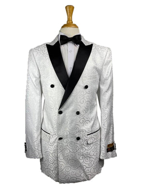 DB-Dinner White - Mens Wholesale Suit - AlbertoNardoniStore
