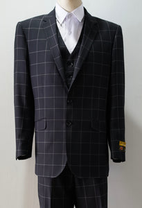Tailored Black/Plaid