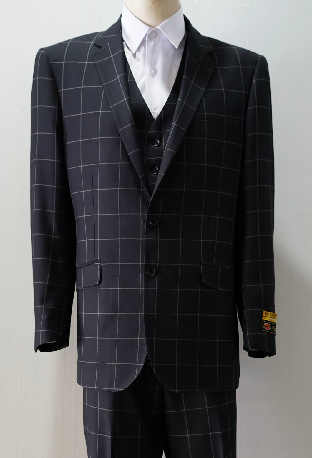 Slim Fit Prom Suits - Tailored Black/Plaid