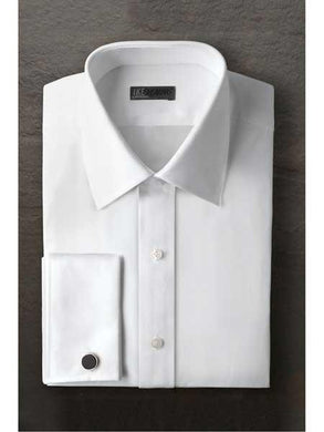 Marshall Laydown White Regular Fit Ted Baker Brand Tuxedo Shirt With Frenched Cuff - Wholesale Tuxedo Shirt