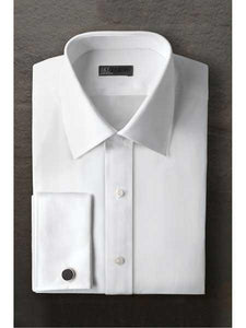 Marshall Laydown White Regular Fit Ted Baker Brand Tuxedo Shirt With Frenched Cuff