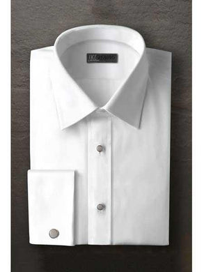 Logan Laydown White Textured Tuxedo Shirt With Frenched Cuffed Ted Baker Brand Regular Fit