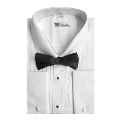 Tuxedo With Bow-Tie Set French Cuff White Men's Dress Shirt