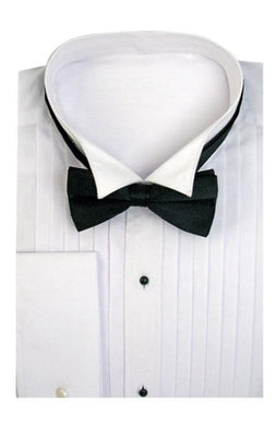 Tuxedo Wing Collar With Bow-Tie Set French Cuff White Men's Dress Shirt - Wholesale Tuxedo Shirt