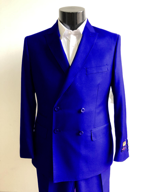 DB-Slim Royal Blue - Wholesale Mens Suits - Wholesale Suits