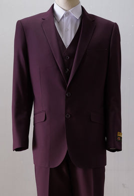 Wedding Guest Suit - Maroon