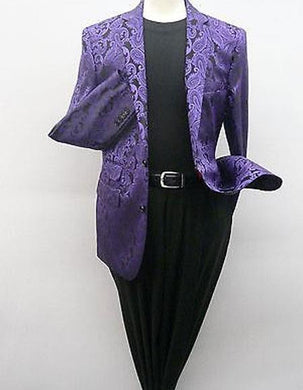 Paisley-100 Purple/Black - Mens Wholesale Blazers