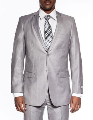 Slim Fit Prom Suits - Wool-SL-Lt.Gray