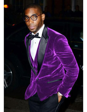 Velvet-Tux101 Dark Purple/Black