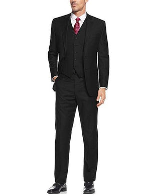 Slim Fit Prom Suits - Wool-SL-Black