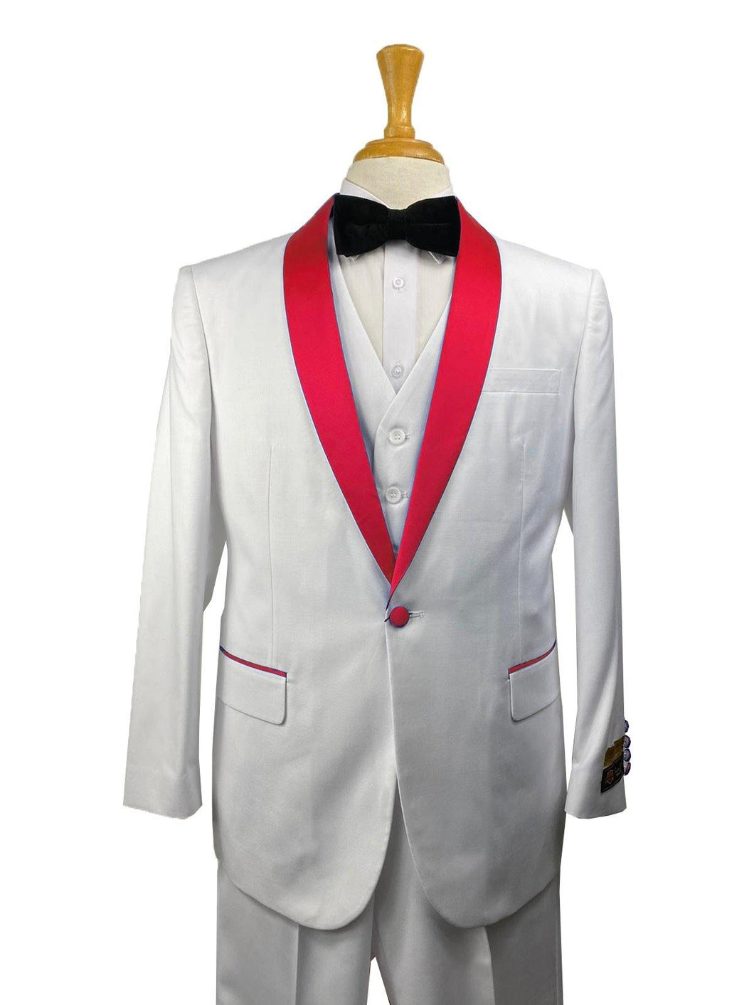 32-C-TUX-SH	WHITE-RED -  Tuxedo Wholesale  Distributors - AlbertoNardoniStore