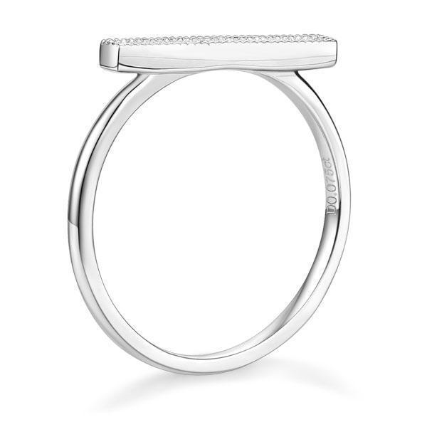 14k White Gold Ring with Diamonds (0.07ct) Women Wedding Bands Oanthan