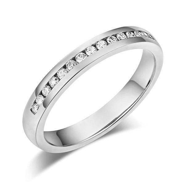 14k White Gold Ring with Diamonds (0.17 Ct) Women Wedding Bands Oanthan 14k White Gold US Size 4