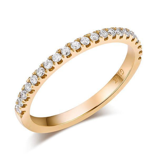 14k Yellow Gold Stackable Ring with Diamonds (0.225ct) Women Wedding Bands Oanthan 14k White Gold US Size 4