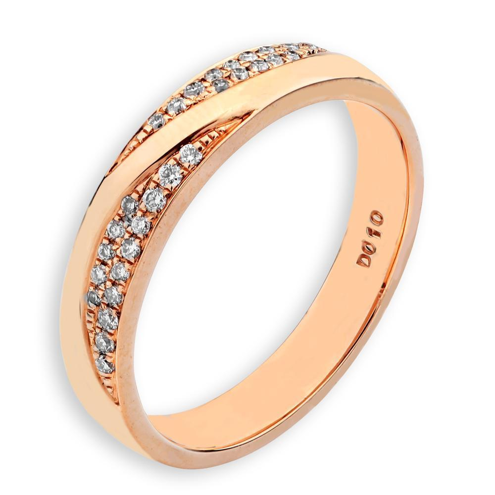 18k Rose Gold Ring with Diamonds (0.102ct) Ring Olivia Davenport Fine Jewels