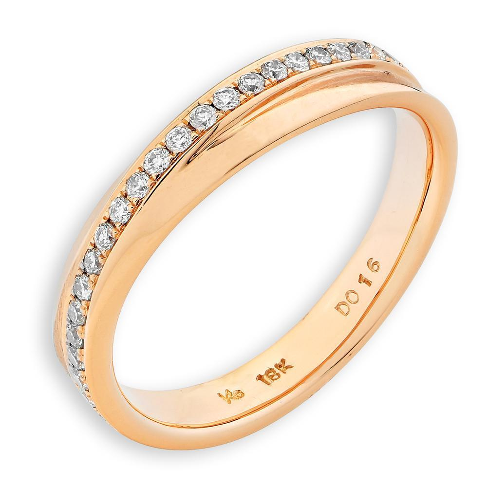 18k Rose Gold Ring with Diamonds (0.159ct) Ring Olivia Davenport Fine Jewels