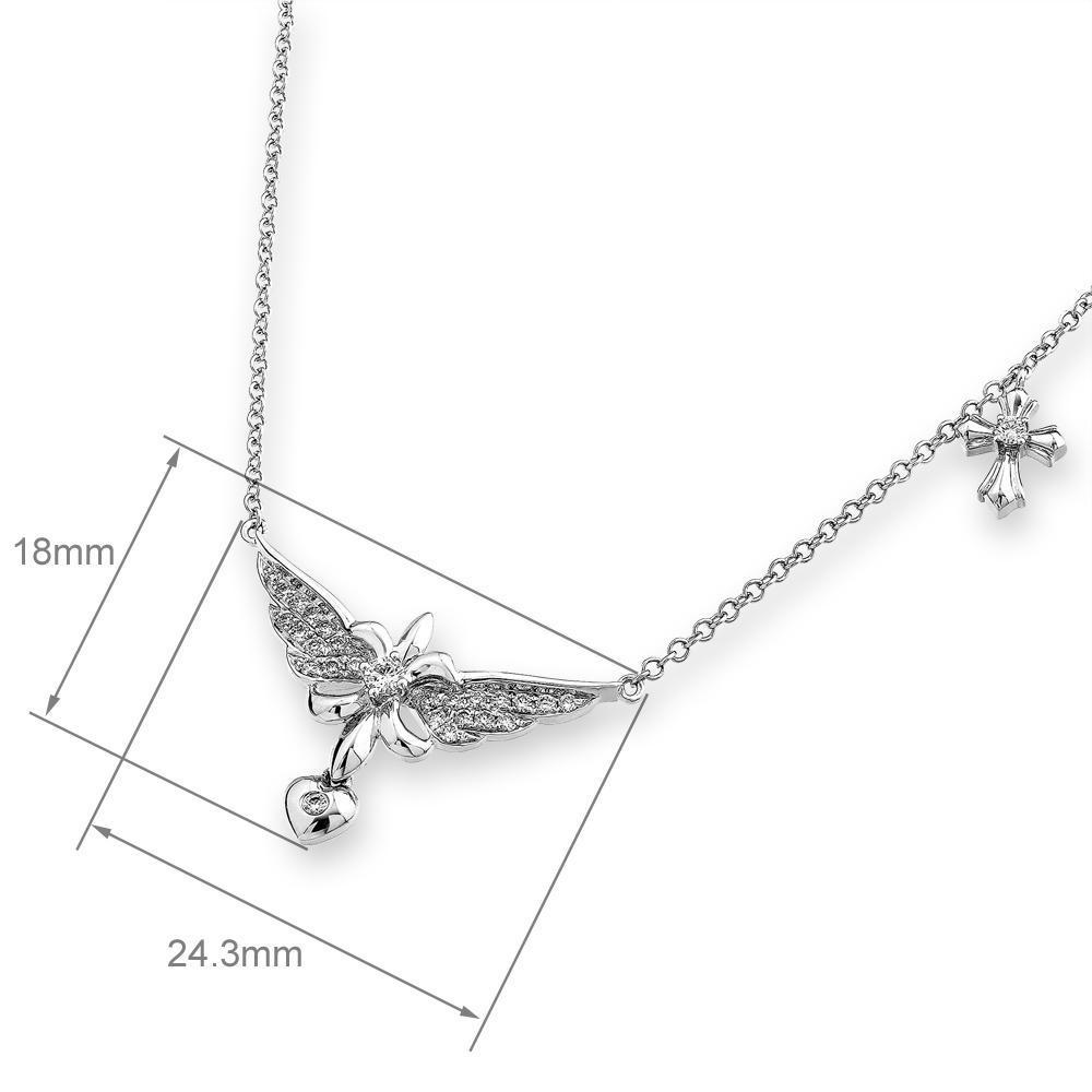 18k White Gold Necklace with 0.24ct Diamonds Necklace IAD