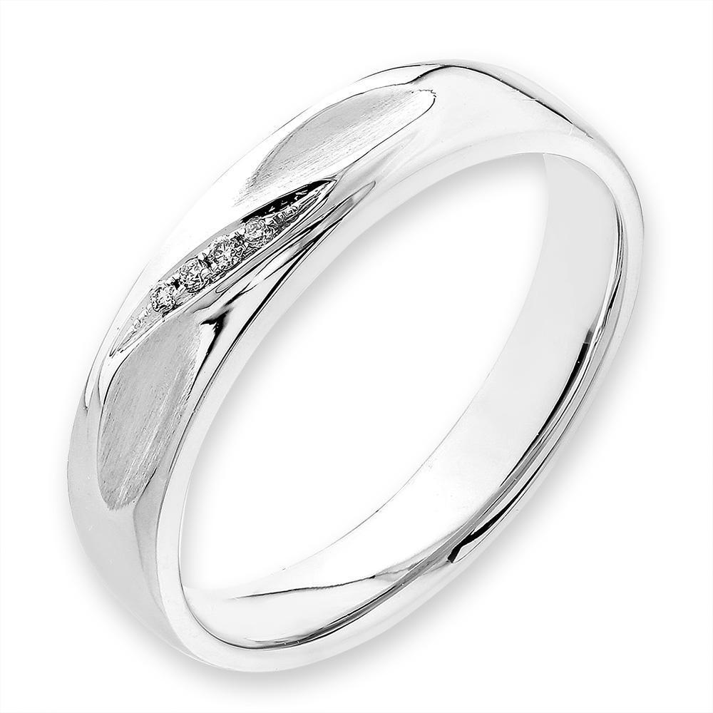18k White Gold Ring with Diamonds (0.014ct) Ring Olivia Davenport Fine Jewels