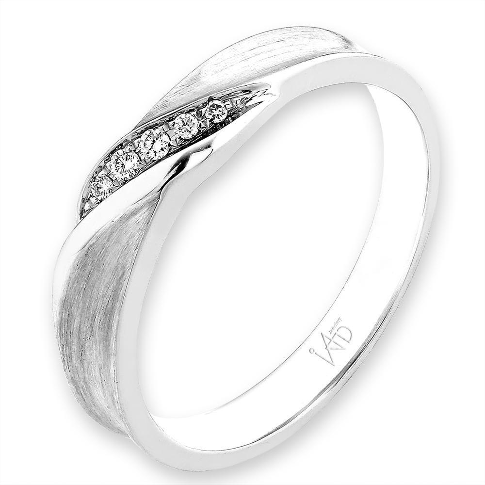 18k White Gold Ring with Diamonds (0.028ct) Ring Olivia Davenport Fine Jewels